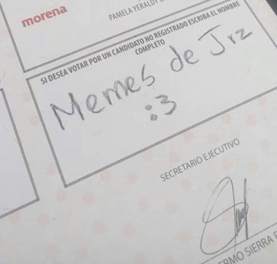 Durante las recientes elecciones en Chihuahua, México, los votantes utilizaron su ingenio. (Foto: tiempo.com.mx)