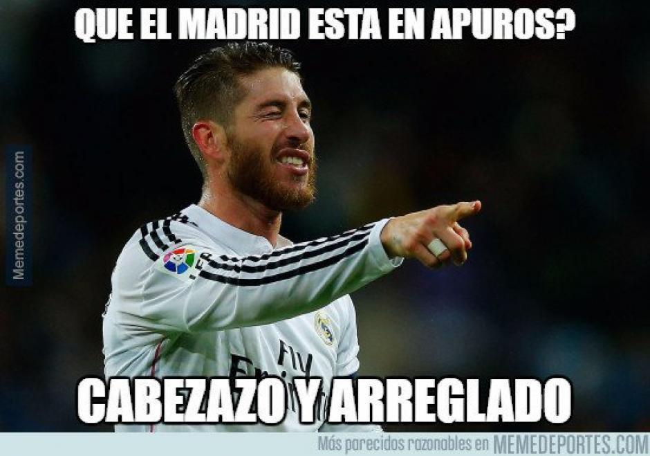 Sergio Ramos anotó un doblete durante el encuentro. (Imagen: memedeportes.com)