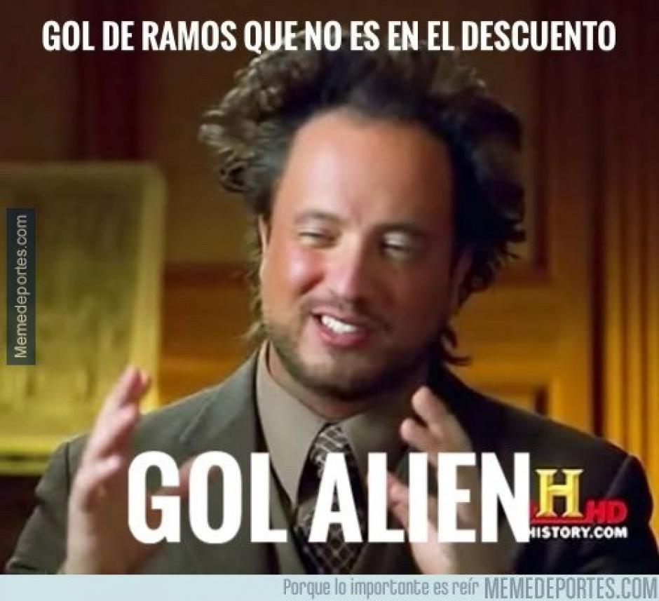 ¿Gol alien? (Imagen: memedeportes.com)