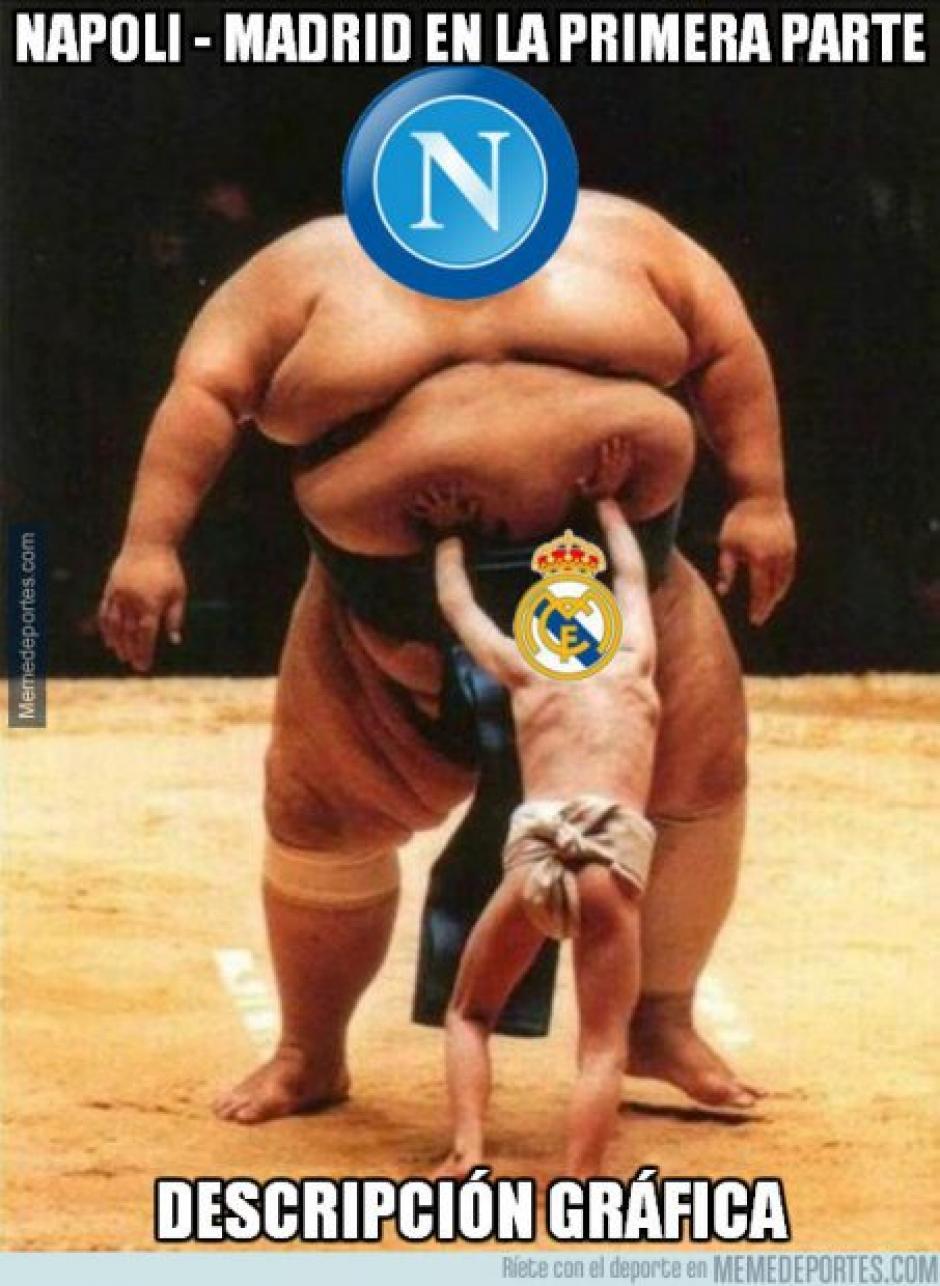 La primera anotación del partido fue obra del Napoli. (Imagen: memedeportes.com)
