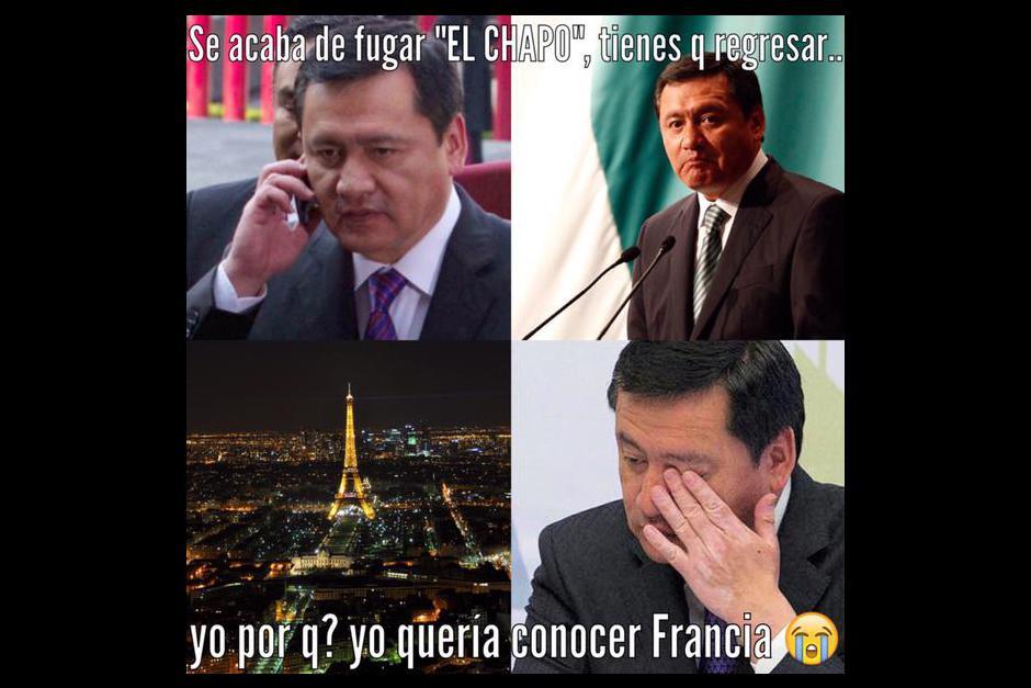 La noticia no le cayó nada bien al presidente mexicano Enrique Peña Nieto que acaba de viajar a Francia.