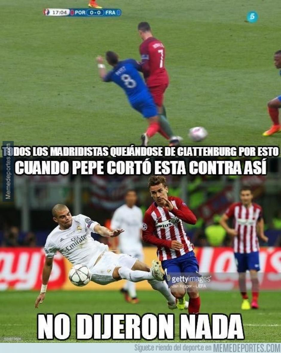La rivalidad entre el Real Madrid y el Atlético de Madrid quedó de manifiesto en los memes. (Foto: Twitter)