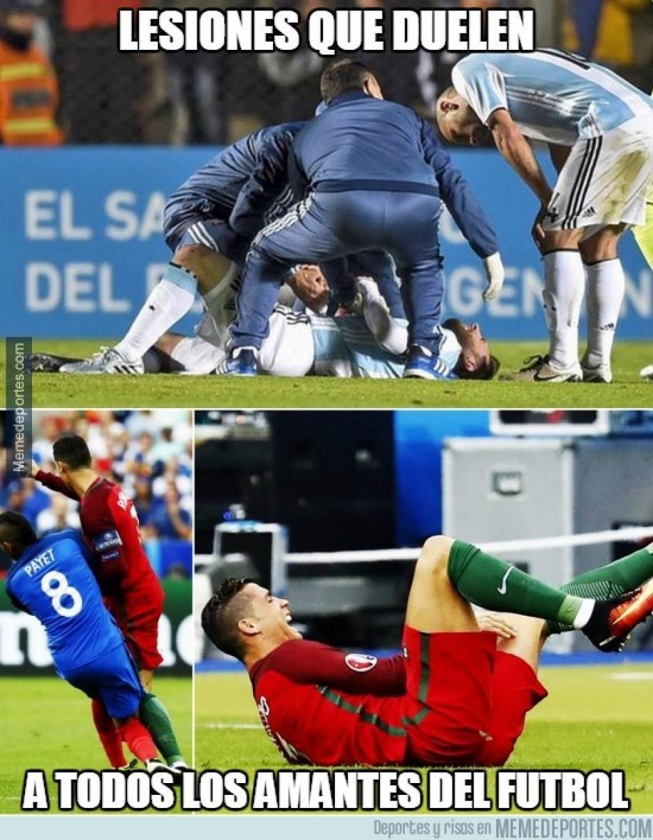 Portugal perdió a su principal estrella por una lesión. (Foto: Twitter)