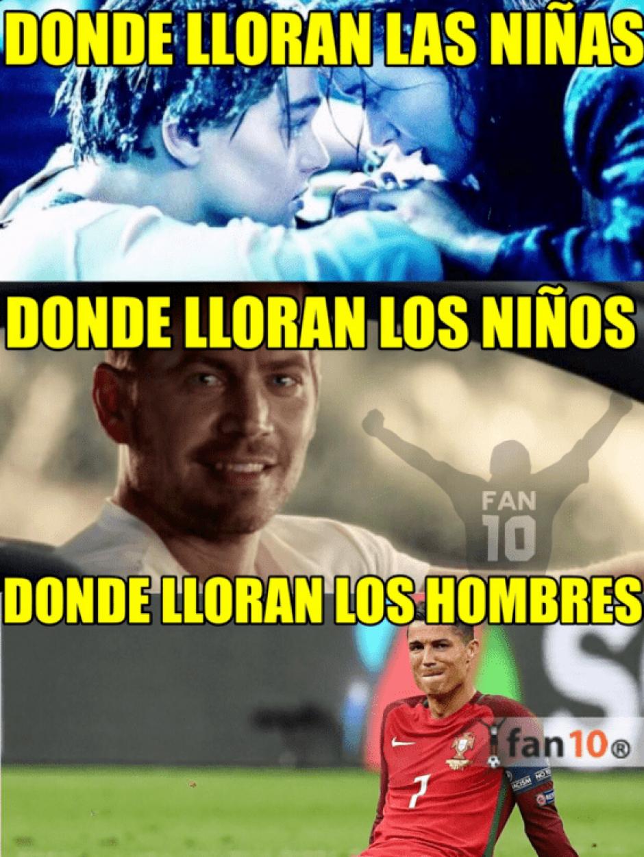 La lesión de Cristiano fue comparada con algunas escenas memorables del cine. (Foto: Twitter)