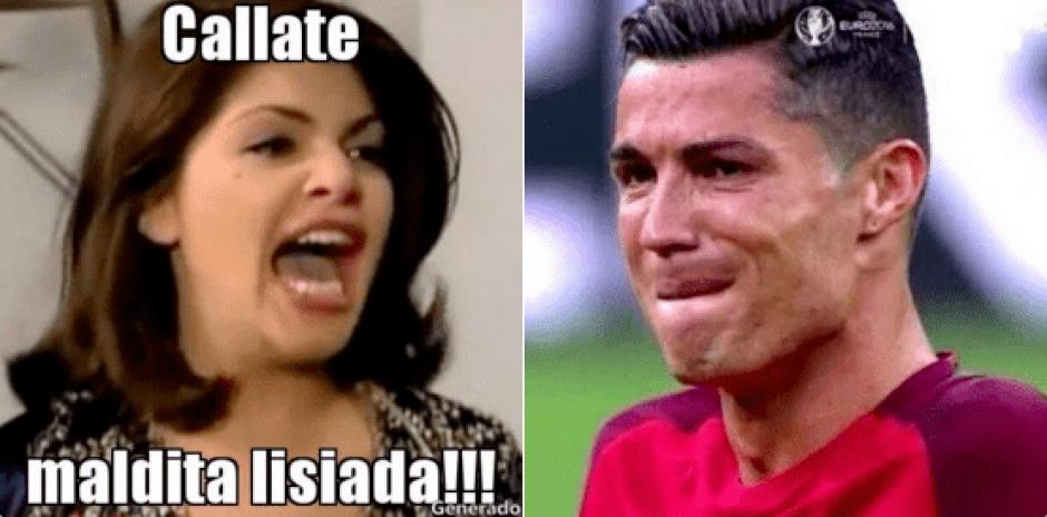 Algunos usuarios de redes sociales se burlaron de la lesión de la estrella portuguesa. (Foto: Twitter)