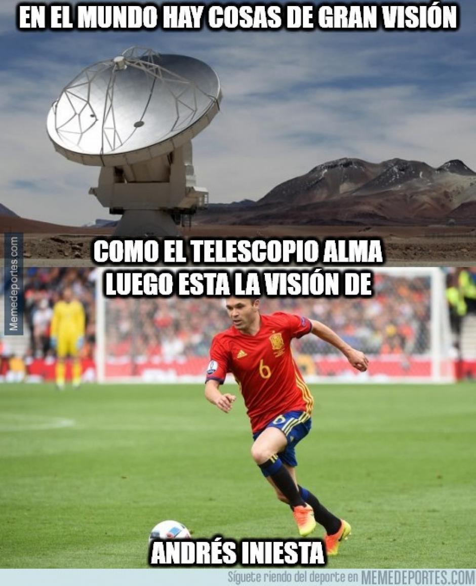 Iniesta sigue siendo un referente en el medio campo para España. (Foto: memedeportes.com)