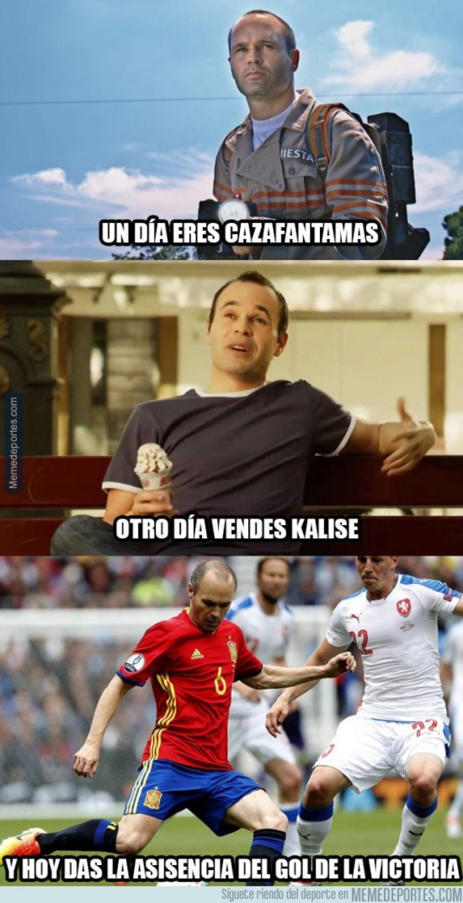 La versatilidad de Iniesta no se limita al fútbol. (Foto: memedeportes.com)