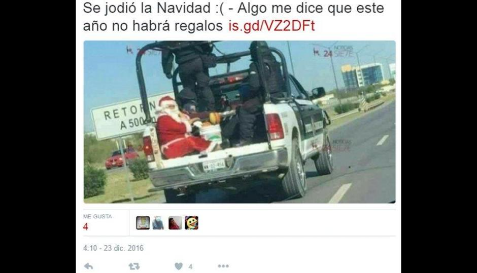 Una fotografía de Santa Claus capturado ha sido utilizada para varios memes. (Foto: peru.com)