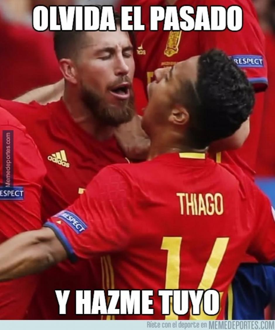 La celebración del gol generó burlas de parte de algunos internautas. (Foto: memedeportes.com)