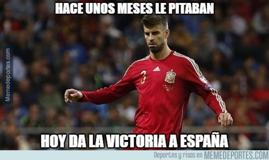 En los últimos juegos Piqué ha sido criticado. (Foto: memedeportes.com)