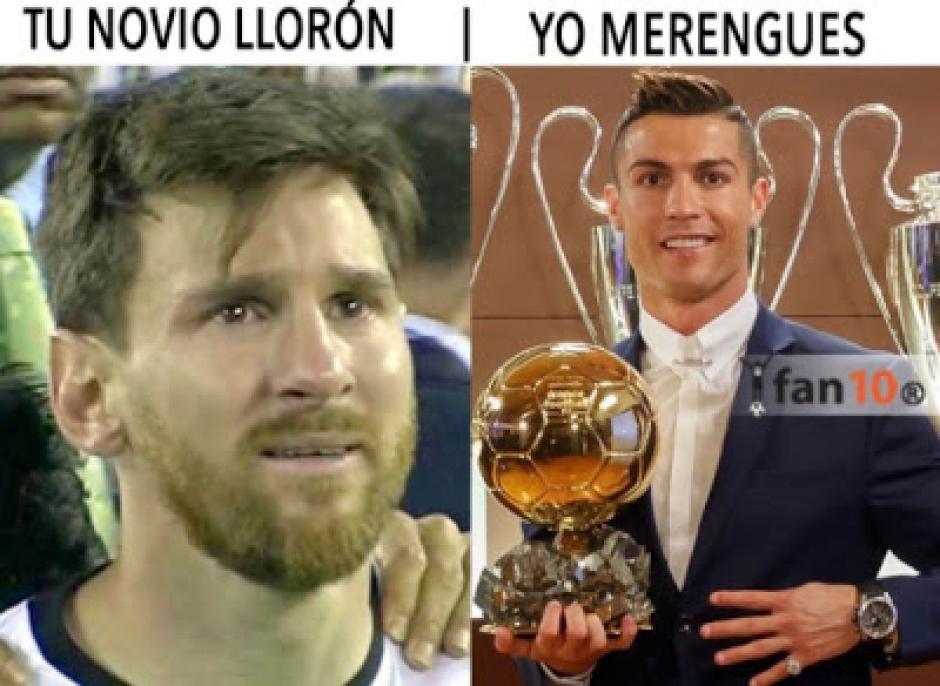 Messi y Cristiano no pueden faltar en los memes del Balón de oro 2016. (Foto: Twitter)