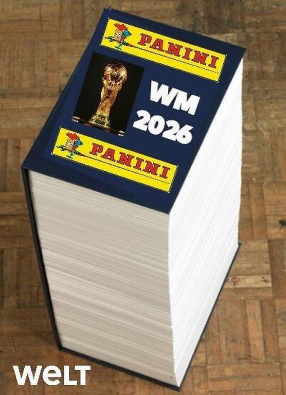 ¿Alguien se atrevería a llenar el álbum Panini? (Foto: Twitter)