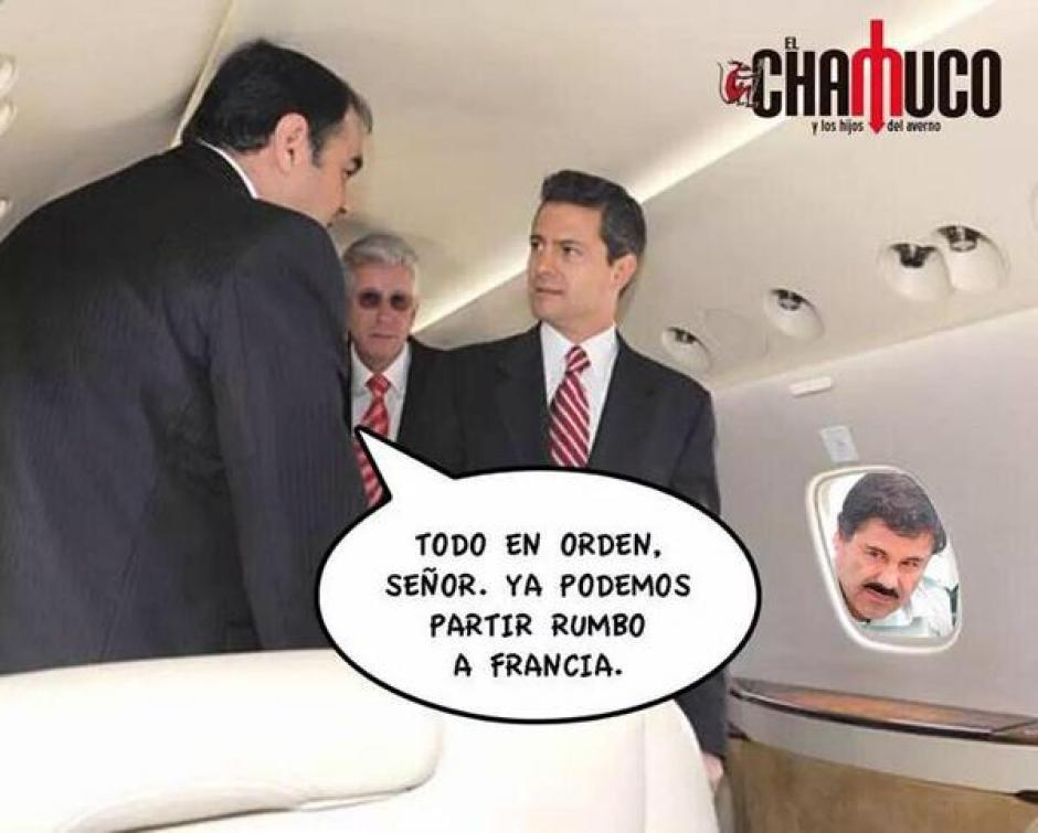 Enrique Peña Nieto fue también el objeto de las burlas por la fuga del Chapo Guzmán,