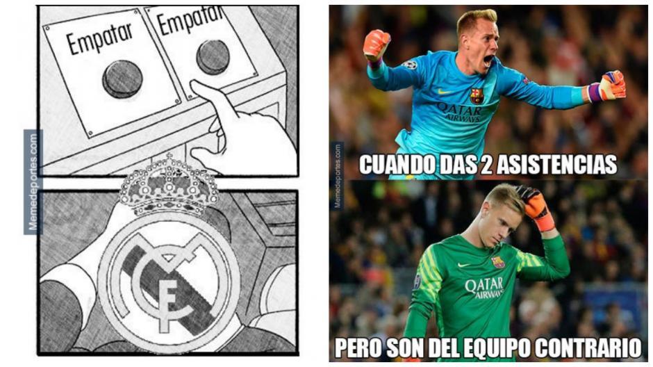 Real Madrid y Barcelona no tuvieron un buen domingo. (MemeDeportes)