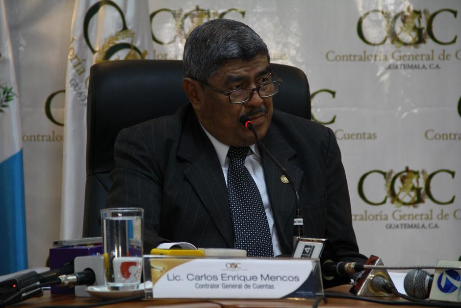 Mencos fue reelecto como contralor en enero de 2015. (Foto: Archivo/Soy502)