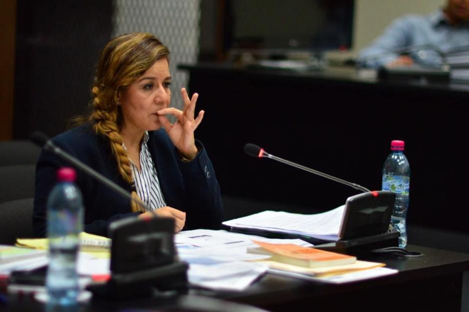 La ex intendente de aduanas, Claudia Méndez rindió su primera declaración, la que duró más de 6 horas. (Foto: Jesús Alfonso/Soy502)