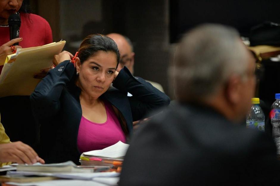 """Claudia Méndez, exintendente de Aduanas interrogó a """"Eco"""" en la audiencia. (Foto: Wilder López/Soy502)"""