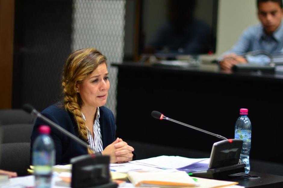 Méndez lloró en varias ocasiones durante la audiencia. (Foto: Jesús Alfonso/Soy502)