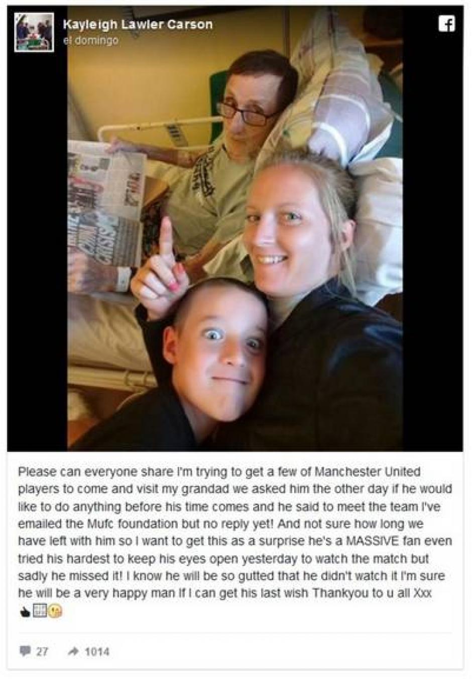 La nieta de Paddy Lawler buscó en las redes sociales que el mensaje llegara a los deportistas. (Foto: RT)
