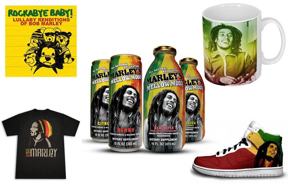 Tras su muerte Marley se convirtió en un ícono de la cultura pop y en la actualidad su imagen es utilizada para una enorme cantidad de productos.