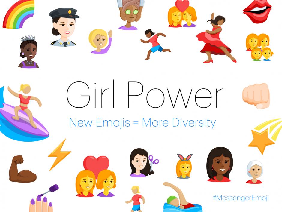 Facebook Messenger lanza emojis femeninos. (Foto: Facebook Messenger)