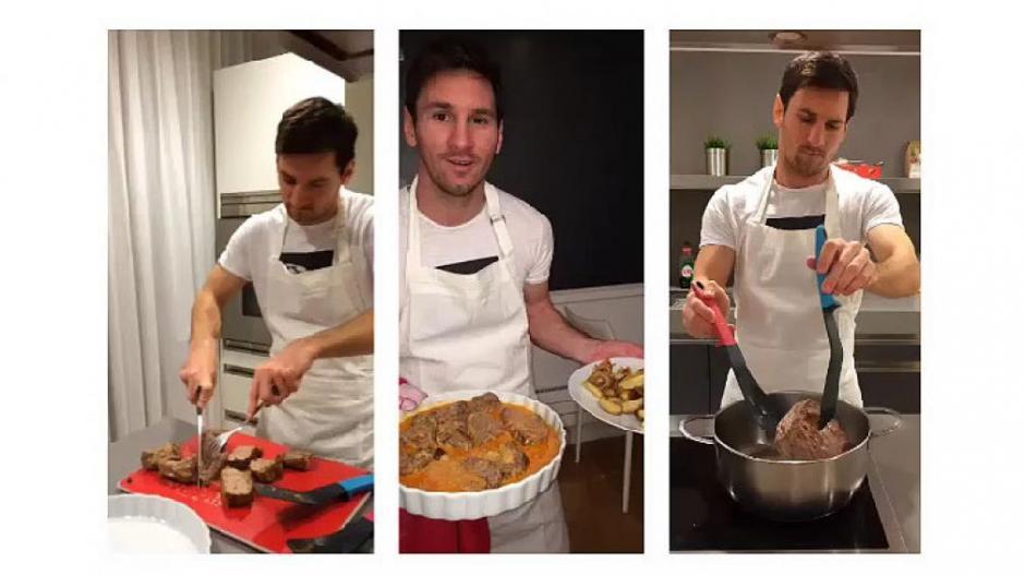 El plato favorito de Messi es la Milanesa Napolitana a Caballo y será la estrella de su restaurante. (Instagram Lionel Messi)