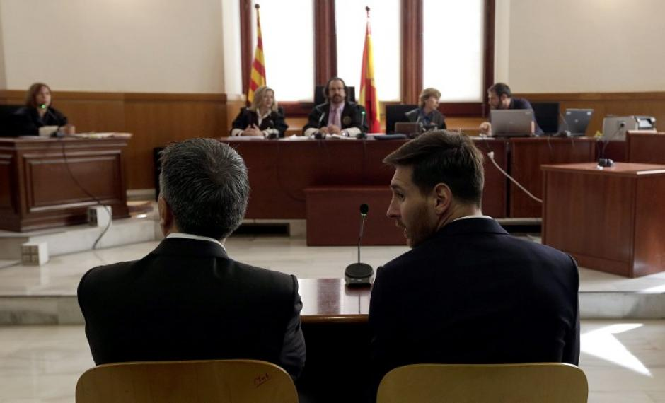 El juicio contra Messi inició esta mañana. (Foto: AFP)