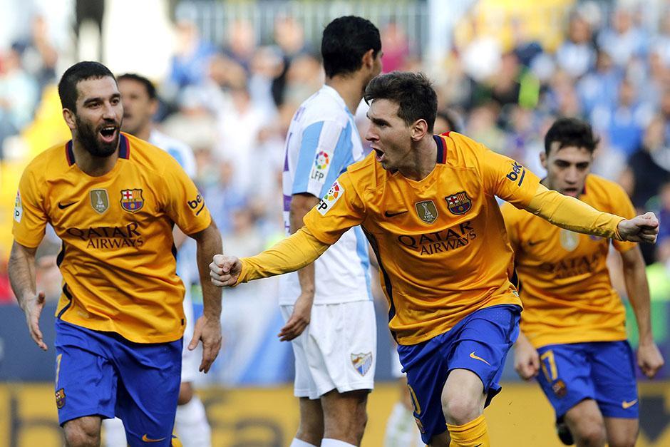 Messi anotó el segundo gol de Barcelona de media vuelta. El argentino suma 11 tantos en la Liga española 2015-2016. (Foto: EFE)