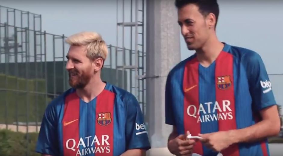 Messi, Jordi, Busquets, Rakitic y Sergi Roberto fueron parte del encuentro. (Imagen: captura de YouTube)