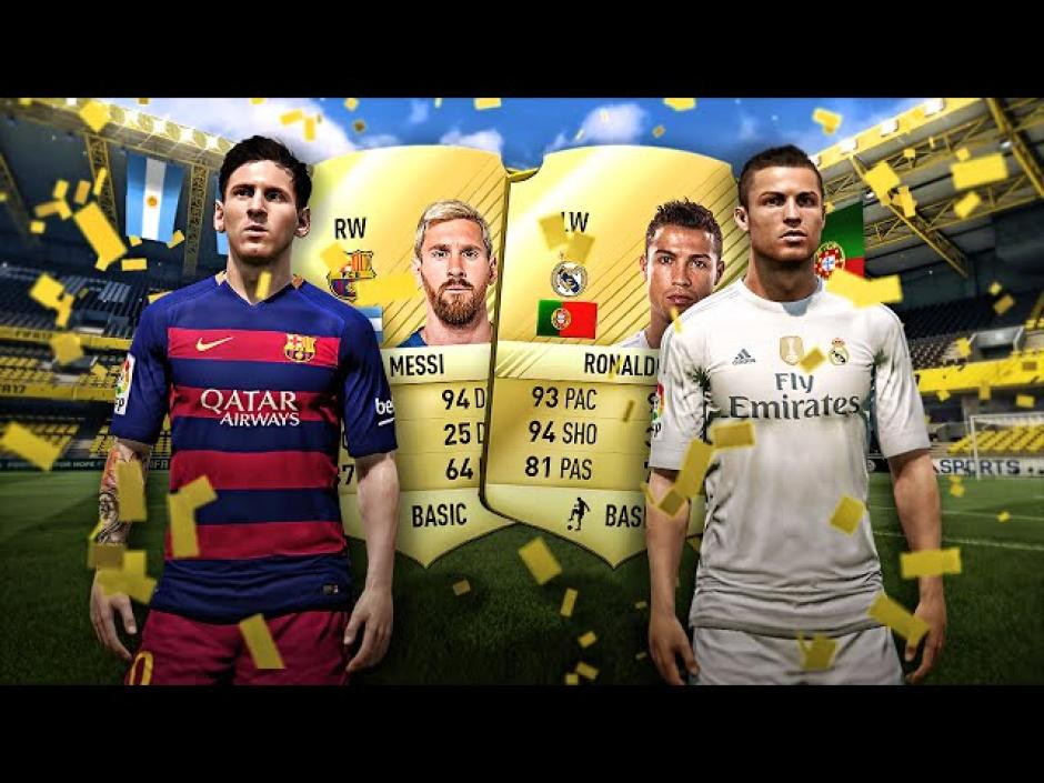 Por primera vez en la historia del videojuego, Ronaldo supera a Messi. En esta imagen se muestra el resultado en FIFA 16. (Foto: fifplay.com)