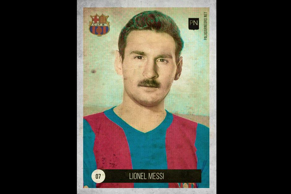 Lionel Messi regresó en el tiempo con otro corte de cabello y un llamativo bigote. (Foto: paladarnegro.net)