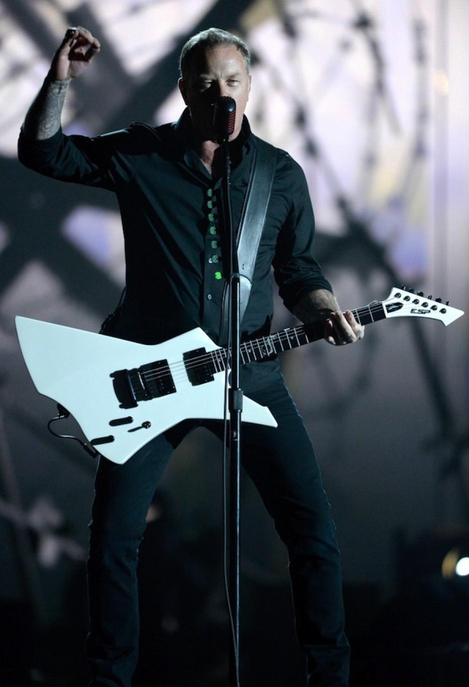 Metallica agregó el toque rockero a la noche. (Foto: Grammy)