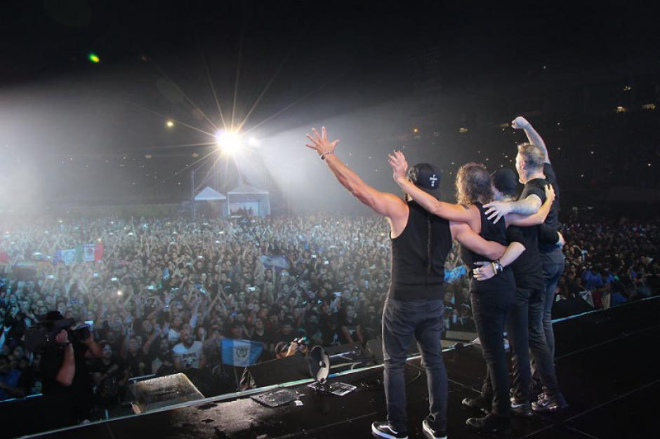 El 3 de noviembre fue la segunda vez que la banda tocó en Guatemala. (Foto: Metallica)