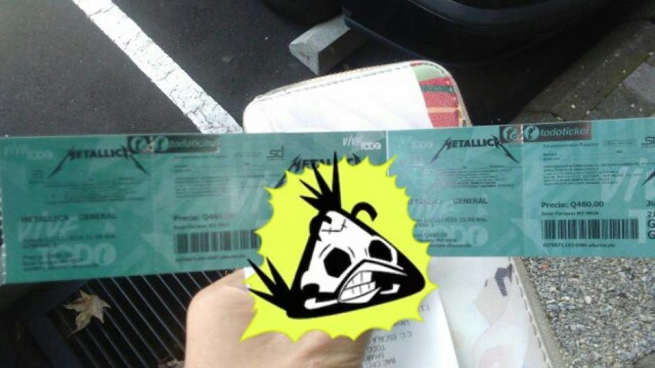 Algunos fanáticos presumieron sus entradas en las redes sociales. (Foto: Facebook/Metallica in Guatemala City)