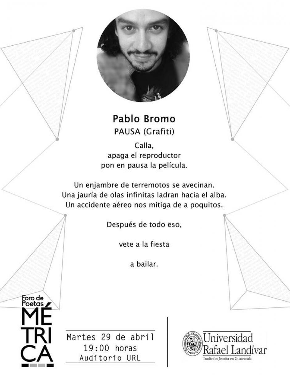 Además de escritor, Pablo Bromo dirige Vueltegato Editores. (Diseño: Métrica oficial)