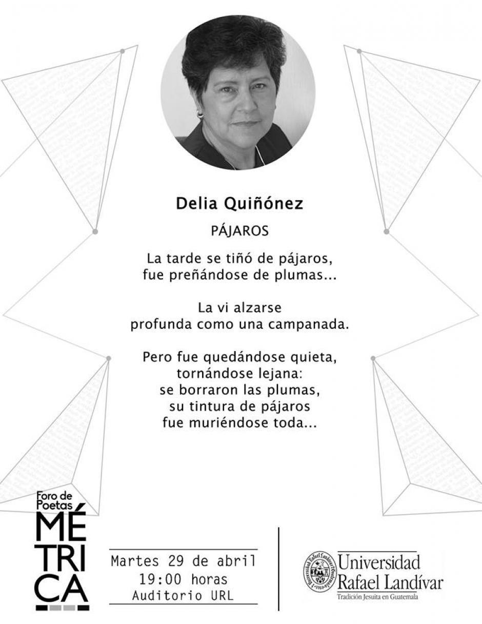 El trabajo de Delia Quiñonez es muy importante para la literatura guatemalteca. (Diseño: Métrica oficial)