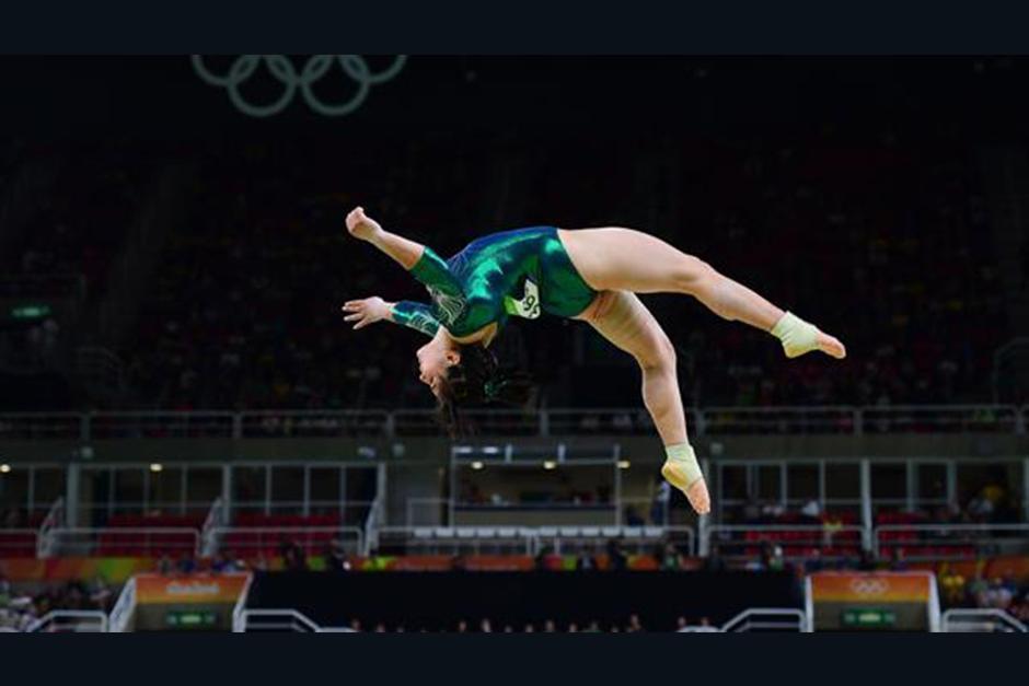 Alexa Moreno es atleta del equipo mexicano de gimnasia que compite en las rondas eliminatorias. (Foto: AFP)