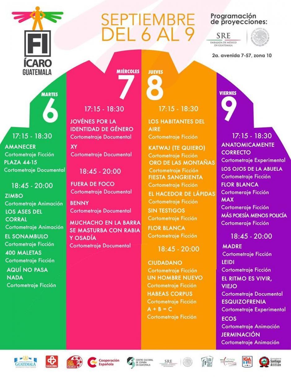 Esta es la programación del Centro Cultural Mexicano Luis Cardoza y Aragón, en la Embajada de México. (Foto: Festival Ícaro)