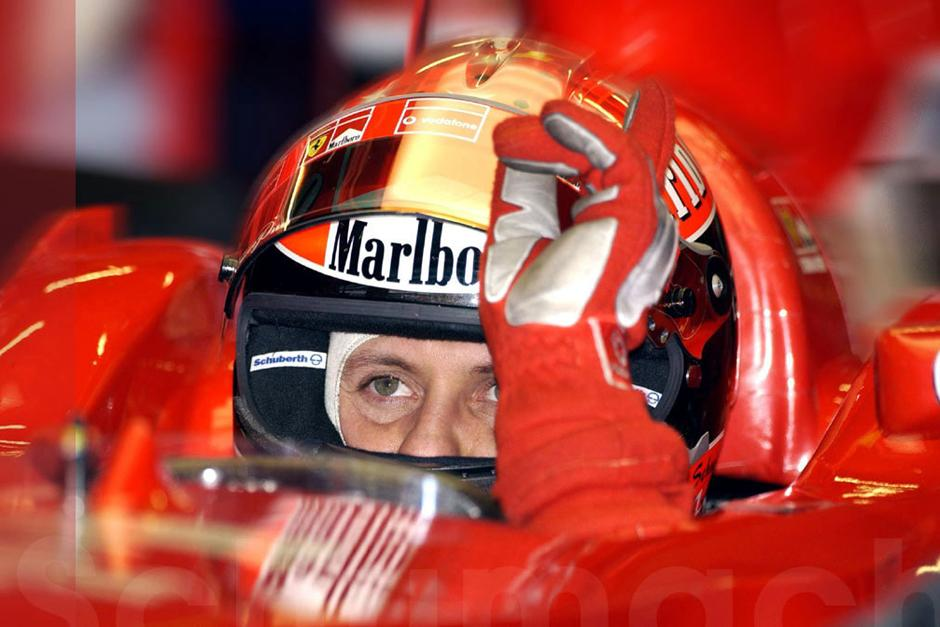 Michael Schumacher vivió sus mejores momentos en la Fórmula Uno con Ferrari, donde ganó cinco títulos y mostró su calidad. (AFP)