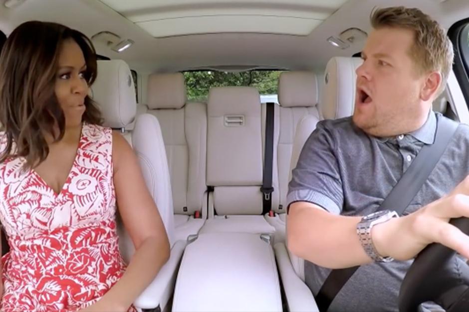 """Michelle Obama es la nueva invitada en el """"Carpool Karaoke"""". (Foto: YouTube)"""