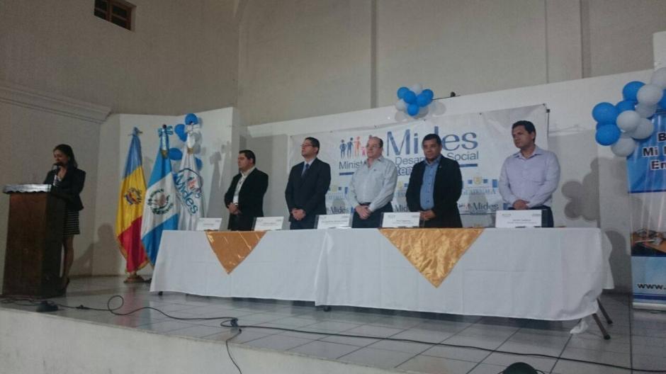 El lanzamiento lo realizó personal del Mides en Zaragoza, Chimaltenango. (Foto: Facebook, Mides)