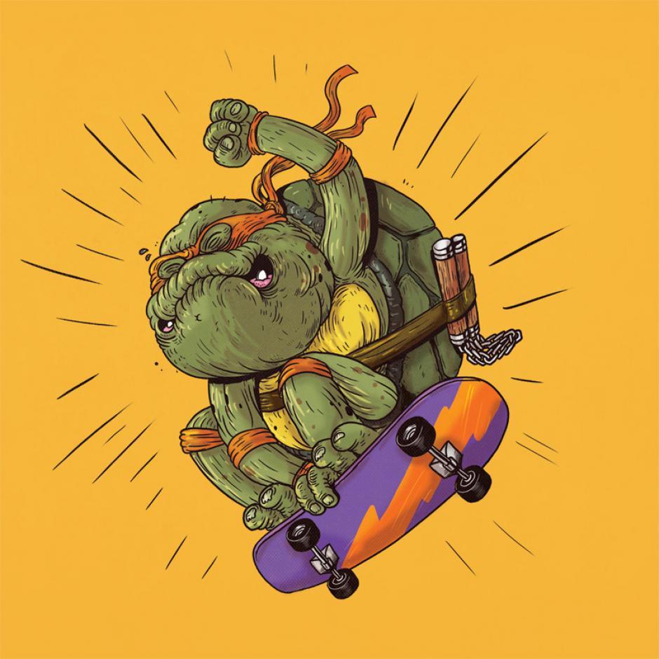 Nunca es demasiado tarde para recordar buenos momentos, Miguel Ángel de las Tortugas Ninjas aún tiene trucos bajo la manga. (Foto: Alex Solis)