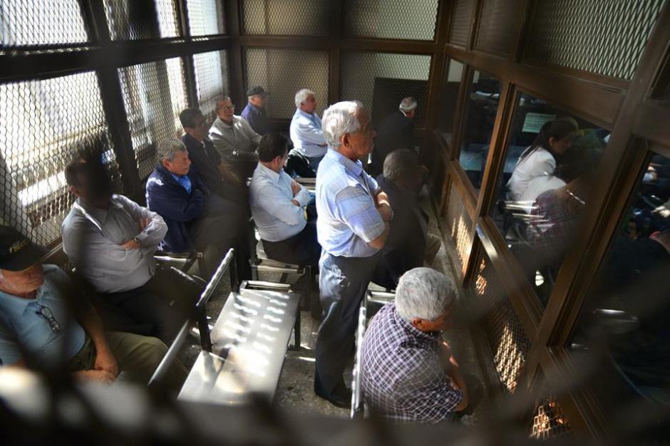 Las audiencias se desarrollan en el Juzgado A de Mayor Riesgo donde la juezClaudette Domínguez tomó la decisión de ligar a 11 de los 14 a proceso penal. (Foto: Wilder López/Soy502)