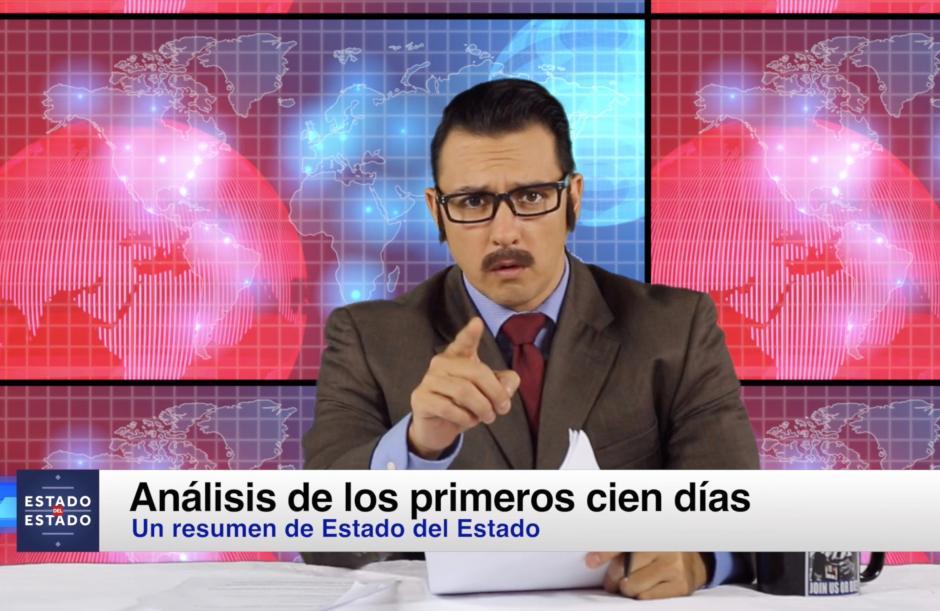 Juan Diego Rodríguez interpreta al presentador de noticias, Ricardo Castró. (Foto: César León/Estado del Estado)