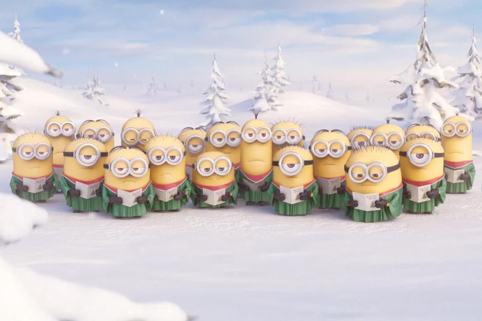 должна картинки миньоны в снегу стала