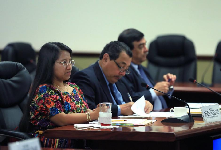 La ministra de Trabajo, Aura Leticia Teleguario, es uno de los miembros del Gabinete que más se ha reunido con Jimmy Morales. (Foto: Archivo/Soy502)