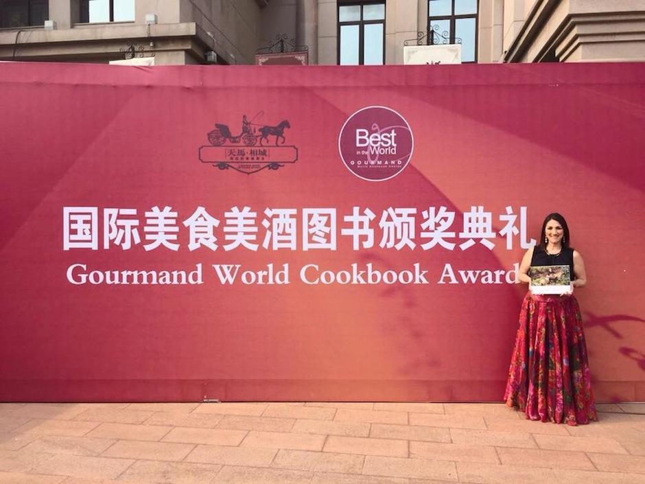 La chef guatemalteca Mirciny Moliviatis destacó en China con su libro. (Mirciny Moliviatis)