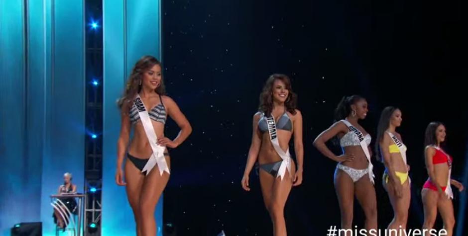Guatemala hizo un gran papel en la semifinal de MIss Universo. (Foto: captura de pantalla)