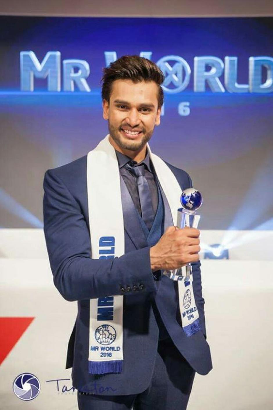 Es primera vez que un indú gana el título. (Foto: Mister Mundo oficial)