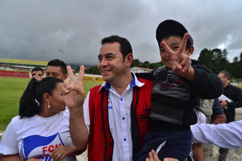 Durante la campaña se mostraba más sonriente y atento con los medios. (Foto: Archivo/Soy502)